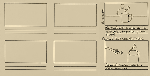 Storyboard template + story